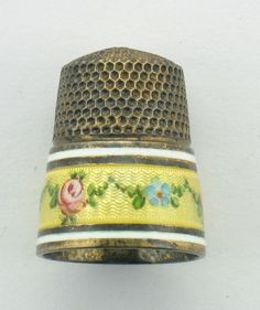 1920s STERLING SILVER ENAMEL THIMBLE SIZE 8 in Collectibles | eBay / Nov 02, 2014 / US $140.50