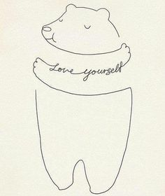 Love Yourself - art print Illustration by Lim Heng Swee Words Quotes, Wise Words, Sayings, Nice Quotes, Just Love, True Love, Baby Clothes Brands, Illustration, Pin Collection
