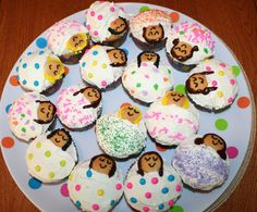 Sleepover cupcake idea