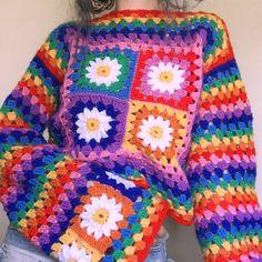 Would anyone know a pattern for this? Débardeurs Au Crochet, Crochet Patron, Crochet Crop Top, Easy Crochet, Crochet Clothes, Diy Clothes, Estilo Hippie, Diy Vetement, Look Vintage