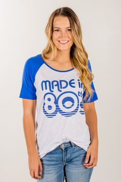 RubyClaire Boutique - Made in the 80's Tee, $24.00 (https://www.rubyclaireboutique.com/made-in-the-80s-tee/)