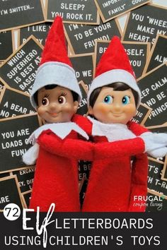 Enjoy these totally easy Elf on a Shelf ideas - download over 70 Elf on the Shelf notes and pair these Elf letter boards with children's toys to create quick Elf on the Shelf ideas! These Elf on the Shelf printable notes create really easy Elf ideas for over 70 days. Pair Elf on the shelf stuff with your boy, girl, Disney, games, and more toys. New Elf ideas daily plus free Elf digital downloads and Elf printables. #FrugalCouponLiving #ElfontheShelf #ElfontheShelfIdeas #ElfIdeas #printables Christmas Games To Play, Christmas Jokes, Christmas Activities, A Christmas Story, Christmas Elf, Christmas Traditions, Holiday, The Elf, Elf On The Shelf
