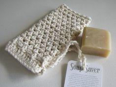 Natural Soap Saver 100 percent cotton by lemonadesun on Etsy, $5.00
