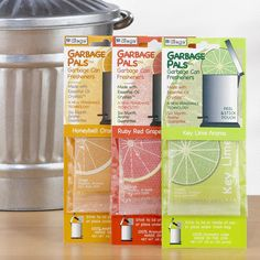 One of my favorite discoveries at WorldMarket.com: Citrus Garbage Pals, Set of 3. $15