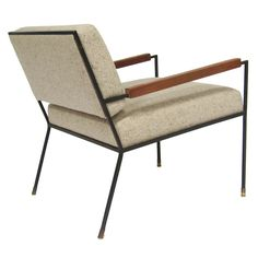 Hank Weber and George Kasparian; Iron Frame Lounge Chair, 1950s.