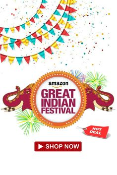 Amazon Great Indian Festival sale  The wait is over ! Amazon Great Indian Festival sale has started from today. We are sending Blockbuster & Lightning Deals across Mobiles, Electronics, Accessories, Large Appliances, Industrial Supplies and Fashion  #shopping #amazonprime #festivalsale #fashion