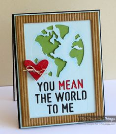 Hearts a Plenty Die-namics, Rectangle Frames Die-namics, You Mean the World to Me Die-namics - Melody Rupple #mftstamps