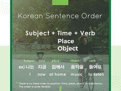 Korean sentence order