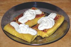 Creamy, sweet #cheeseblintzes Easy #Blintzes #Recipes @ FoodCult.com - A Place for Galganov's Recipes and More - #Food Matters!
