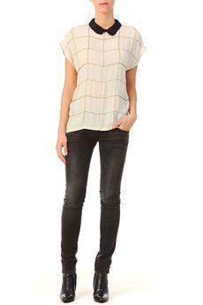 Nümph - Top - Short sleeve Top - 7714055 bella - White / Ecru white