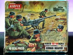 Airfix German Infantry WWII Battleground Soldiers 1 72 Scale Vintage Box Set | eBay #vintagetoys #toysoldiers #oldtoysandcollectables