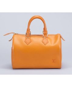 Louis Vuitton : orange epi leather vintage top handle bag
