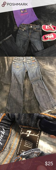 Selling this Seven for all Mankind 'A' pocket toddler jeans on Poshmark! My username is: chicagomommy22. #shopmycloset #poshmark #fashion #shopping #style #forsale #Seven7 #Other