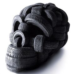 artist unknown. cool use of tires