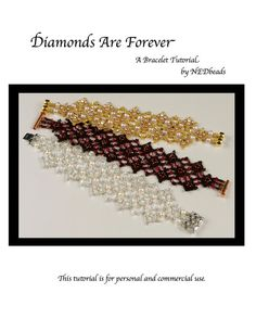 Bracelet Tutorial  Diamonds Are Forever by NEDbeads on Etsy, $10.00