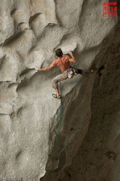 Michael Fuselier climbing at Petzl RocTrip China by Petzl sport, via Flickr © Guillaume Vallot