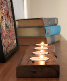 Wooden Tealight Tray  Candle Tray  Reclaimed Wood by HurdandHoney, $20.00