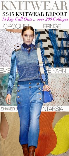 FASHION VIGNETTE: TRENDS // TREND COUNCIL - SS/15 . KNITWEAR + PATTERN TREND REPORTS