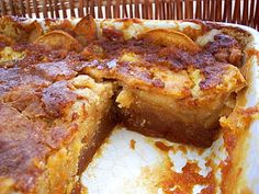 Bolo Molhado de Maçã e Caramelo - Receitas de Portugal