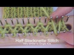 YouTube Single knit effect on knitting board http://www.youtube.com/watch/?v=LrRupMn_t8o