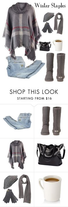 """""""Winter Staples"""" by kotnourka ❤ liked on Polyvore featuring Balmain and UGG Australia"""
