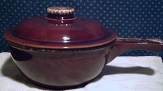 Large Hull Brown Drip Side Handle Casserole Dish-one of my favorite pieces of the Hull Drip Brown pattern.