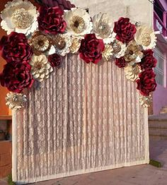 Popular quinceanera party planning check my reference Quince Decorations, Quinceanera Decorations, Quinceanera Party, Birthday Decorations, Wedding Decorations, Birthday Crafts, Paper Flower Backdrop, Paper Flowers, Party Planning