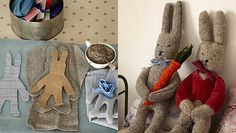 How to make a bunny - Sarah Moore craft projects Sewing Crafts, Sewing Projects, Craft Projects, Sewing Hacks, Sewing Ideas, Craft Patterns, Sewing Patterns, Easy Crafts, Crafts For Kids