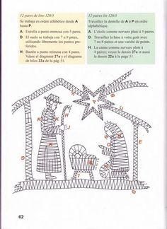 RODRIMAN ..... LRM --------------- Patrones comprados , regalados en encuentros y bajados de Internet . Christmas Colors, Christmas Themes, Bobbin Lacemaking, Bobbin Lace Patterns, Christmas Nativity Scene, Christmas Coloring Pages, Lace Making, String Art, Lana