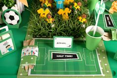 Soccer themed graduation party