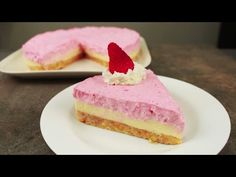 Tarta mousse chocolate blanco y fresas   delicias.tv