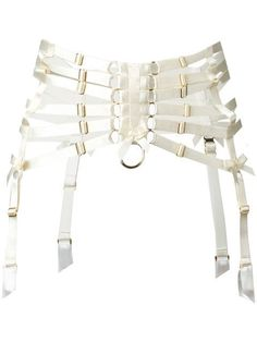 White webbed suspender belt from Bordelle. Underwear and lingerie must be tried on over your own garments. Corsets, Stage Outfits, Fashion Outfits, Fashion Hair, Older Women Fashion, Womens Fashion, White Suspenders, Accessoires Photo, White Belt