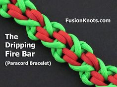 How to Make the Dripping Fire Bar (Paracord) Bracelet by TIAT