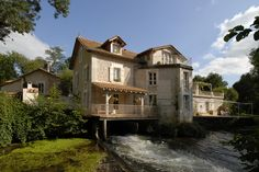 Le Moulin de Larcy, Dordogne, France Dordogne, Le Moulin, France, Restoration, Around The Worlds, Mansions, House Styles, Home, Manor Houses