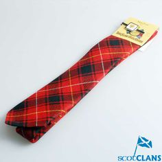 Gents Wool Tartan Tie and Clan Crest Clip