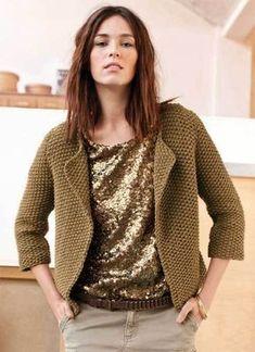 zoom jacket-vest in rice stitch - free explanations - Phildar creation - maylis sanjuan - - zoom veste-gilet au point de riz - explications gratuites - création Phildar zoom jacket-vest in rice stitch - free explanations - Phildar creation - Knitting Yarn, Baby Knitting, Crochet Cardigan, Knit Crochet, Moda Crochet, Knit Fashion, Knit Jacket, Mode Inspiration, Knit Patterns
