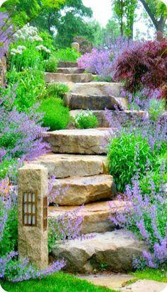 66 examples of garden stairs in modern garden design - garten - gardening Garden Stairs, Garden Entrance, Design Jardin, Front Yard Landscaping, Landscaping Ideas, Walkway Ideas, Backyard Ideas, Path Ideas, Landscaping Software