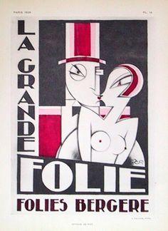 By Pico, 1928, La grande Folie, Folies Bergère, Paris.