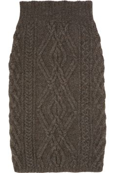 Chloé  Cable-knit merino wool-blend skirt