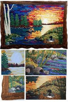 Bits & Piecing Scrap Fabric Landscape with Marilyn Lee - an online workshop for quilters at the Academy of Quilting