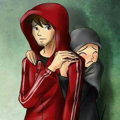 Be strong with me ❤ Islamic Cartoon, Anime Muslim, Arabic Art, Couple Cartoon, Muslim Couples, Princess Zelda, Disney Princess, Cover Art, Anime Guys