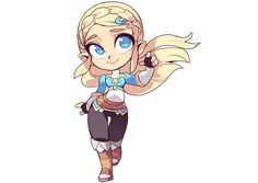 Chibi Zelda by champasaurus Game Design, Chibi, Character Art, Character Design, Princesa Zelda, Pokemon, Legend Of Zelda Breath, Link Zelda, Animation