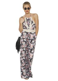 Blossoms Jumpsuit - This would look darling with a cardi for fall.