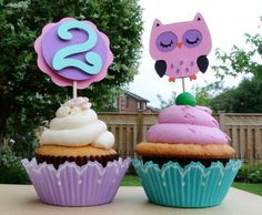 Owl Cupcake Toppers via Etsy