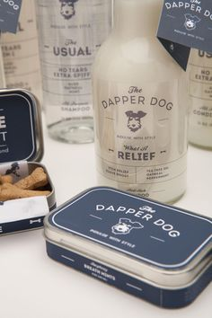 Darn fancy (fictional) dog grooming products and accessories, designed by Adam Rogers, student at Savannah College of Art and Design (SCAD).