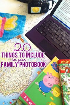20 things you won& want to forget to include in your family& yearly photobook. Part of the Bring Your Digital Family Photos to Life series. Family Photo Album, Album Photo, Family Photos, Family Family, Photo Memories, Family Memories, Project Life, Project Ideas, Shutterfly Photo Book