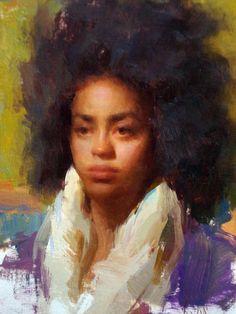 — Portrait by Susan Lyon Oil Portrait, Portrait Paintings, Portraits, Black Women Art, Black Art, Painting Inspiration, Art Inspo, Figure Painting, Lyon