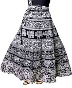 FREE Express SHIPPING In USA/Uk. Bohemian Wrap Skirt Gypsy Hippie Boho Gift Skirt For Girls. Indian Designer Beautiful Floral Printed Skirt