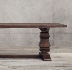 Chunky  Dining Table Solid 100 year old OAK by TheBigTableCompany
