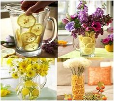 Make a Beauteous Citrus Fruits and Floral Centrepiece  - http://www.amazinginteriordesign.com/make-a-beauteous-citrus-fruits-and-floral-centrepiece/